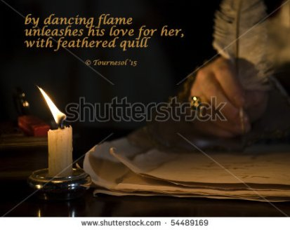 feathered quill   haiga